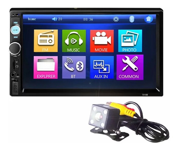 Central Multimidia Mp5 Universal Touch Screen Camera Ré