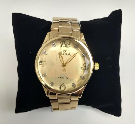 Relógio Feminina Em Aço Dourado