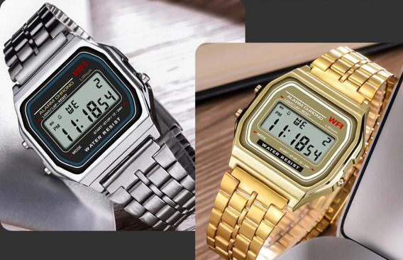 Relógio Digital Retrô Vintage Rw Resistente À Agua Promoção