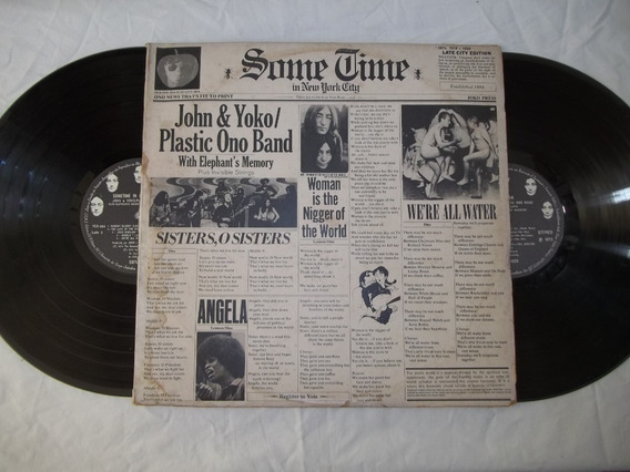 Vinil Lp John & Yoko Plastic Ono Band With Elephant