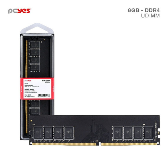 Memoria Udimm 8gb Ddr4 2400mhz - Pm082400d4 - Nf E Garantia