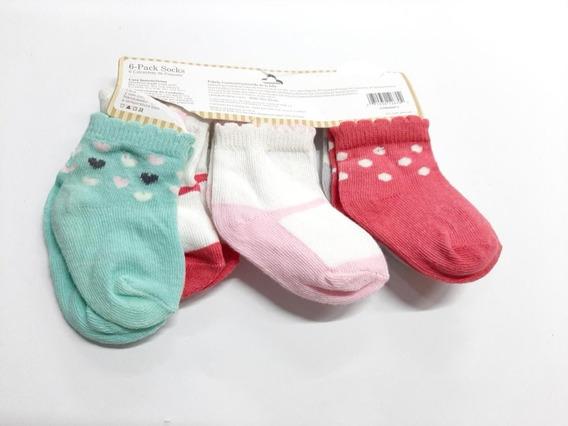 Paquete De 6 Calcetas Para Bebé Marca Carter