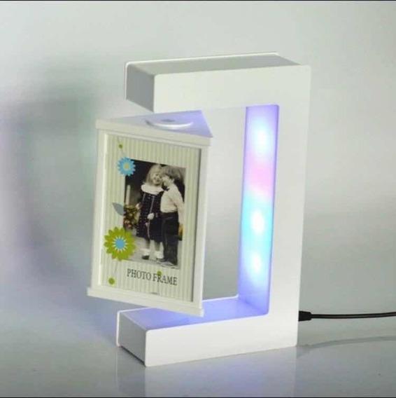Porta Retrato Flutuante Magnético Com Led Pronta Entrega