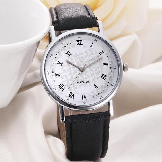 Relógio Unissex Masculino Feminino De Pulso Algarismo Romano