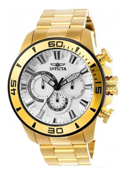 Relógio Invicta Pro Diver 22589 - Ouro- Original - Novo