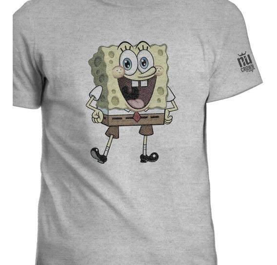 Camisetas Bob Esponja Nick Nickelodeon Hombre Igk