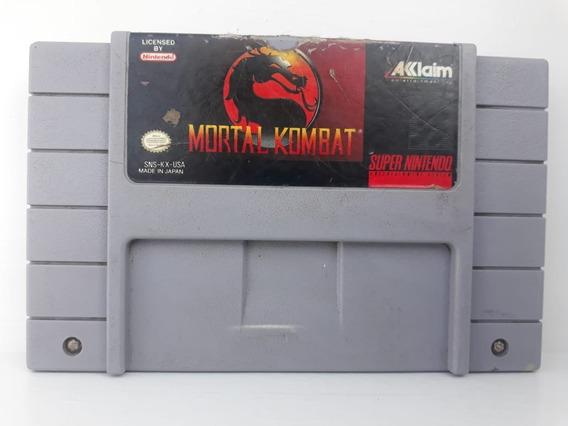 Mortal Kombat - Cartucho Original Super Nintendo - Snes