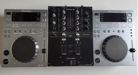 Cdj 350 Pioneer Silver Edition + Mixer Djm 250 Mk2 + Case