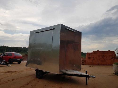 Imagem 1 de 14 de Trailer Food Truck 2.60mx2m - 10 X Sem Juros No Cartão