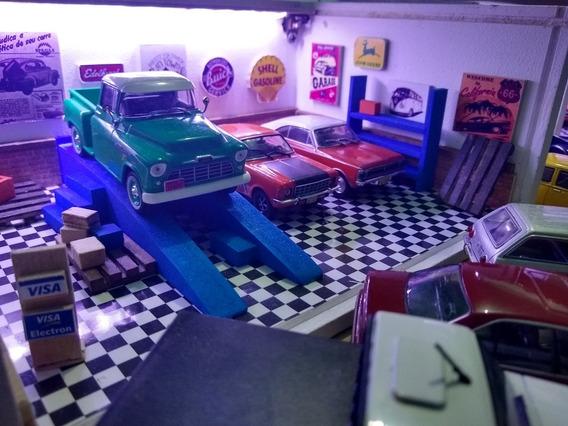 Diorama Luminária Em Led Escala 1 43 A 1/32 Chevrolet Brasil