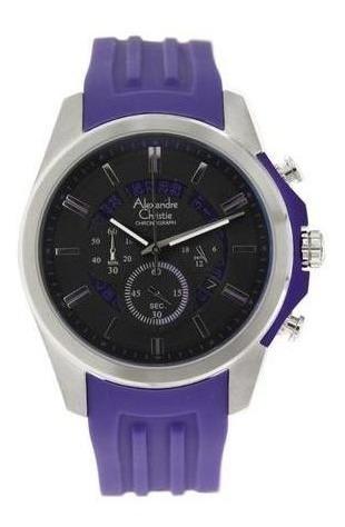 Reloj Alexandre Christie 6326mcrssbapu Para Caballero Caucho