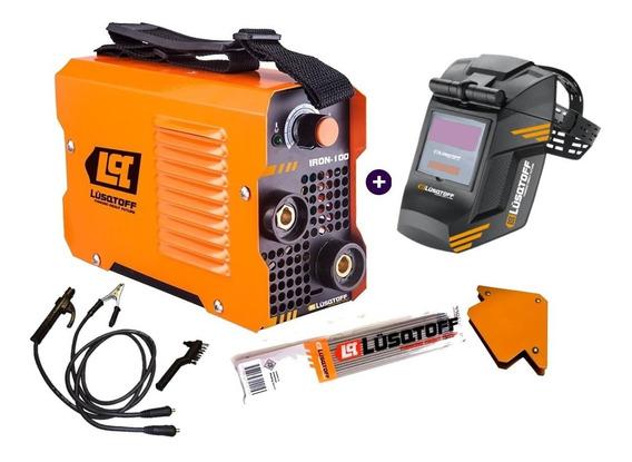 Soldadora Inverter Iron100 Lusqtoff+masc+elect+esc Rex