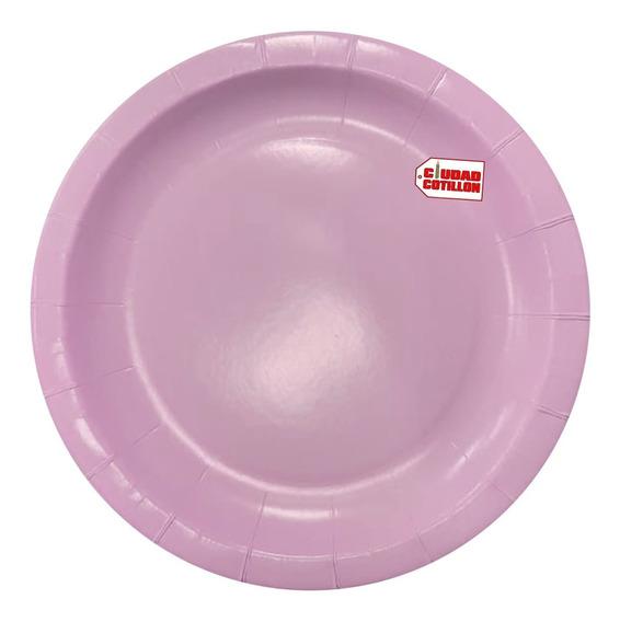 Plato Colores Pasteles X 10 Descartable Polipapel - Ciudad C