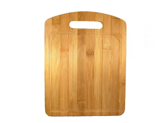 Tabla Bandeja Para Cortar En Madera Bambu 34 X 24 Cm.