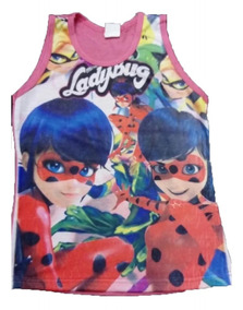 Kit 4 Camiseta Regata Infantil Menina Personagem Linda Verão