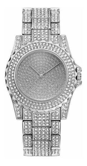Relógio Cravejado Ouro Prata Ice Zircônia Trap Hype