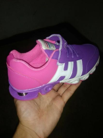 Zapatos Marca Fhasion Color Rosa/morado De Mujer