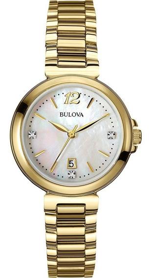 Relógio Bulova Diamond Analógico Feminino Madrepérola Wb2793