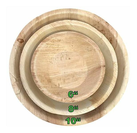 Las Placas De Hoja De Palma; Todo-natural, Bambú Estilo, Org