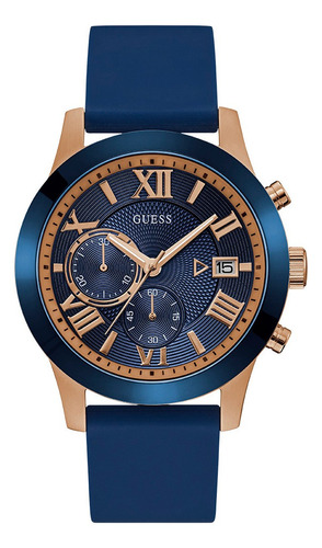 Reloj Para Caballero Guess Atlas W1055g2 Azul