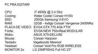 Pc Gamer E Stream/ Editar E Para 3d