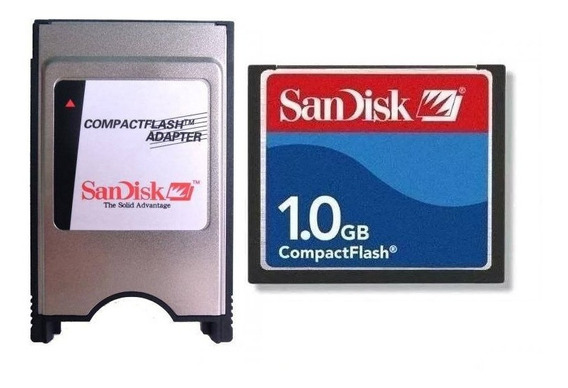 Adaptador Leitor Compact Flash Pcmcia + Cf 1gb Sandisk