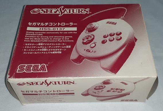 Sega Saturn Hss 0137 Controle 3d Pad Funcionando Na Caixa