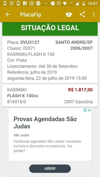 Moto Kasinski Flash 150cc Leia O Anuncio