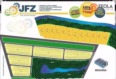 Lotes Industriais De 750m2 E Glebas De 25.000ms, R$ 150 O M2 Facilitados. - Te0096
