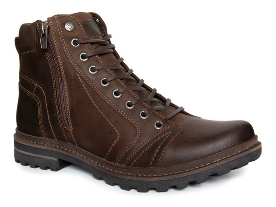 Bota Masculina Freeway Absolut Couro Legítimo - Chocolate