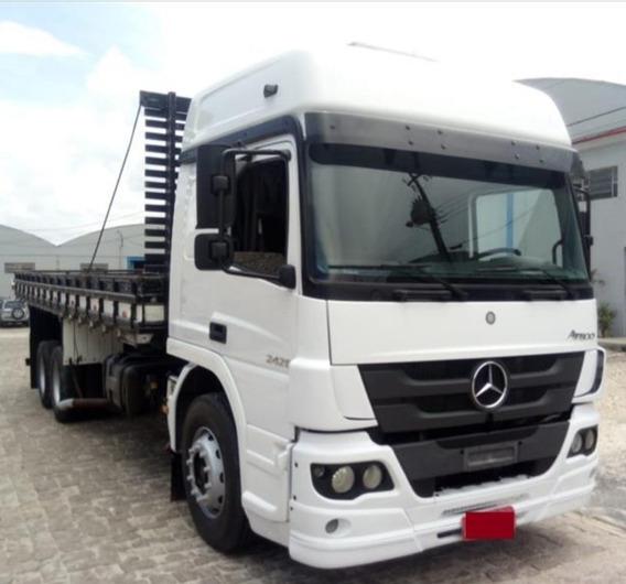 Mb Atego 2426 Truck Carroceria 2013 - Favor Ler Descrição