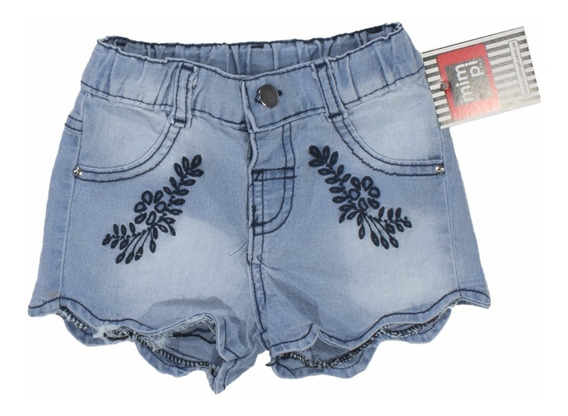Short Nena Jean Bordada Voladitos H/ T.6. Regalosdemama