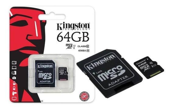 Cartão Memoria Micro Sd 64gb Kingston Classe 10 Lacrado