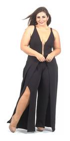 Macacão Feminino Plus Size Tule -moda Blogueira - Gg Ao G2