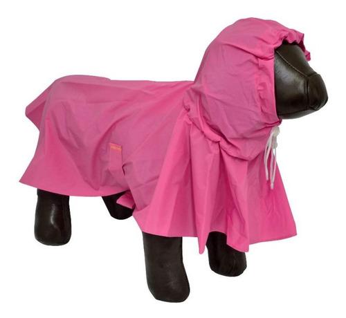 Capa De Chuva Para Cães Cachorros Impermeável Vinil Media