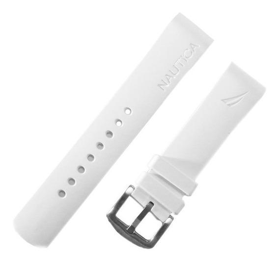 Pulseira Relógio Náutica 22mm Branca