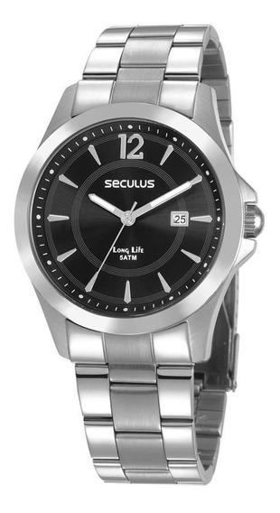 Relógio Seculus Long Life Masculino 28905g0svna1 Original