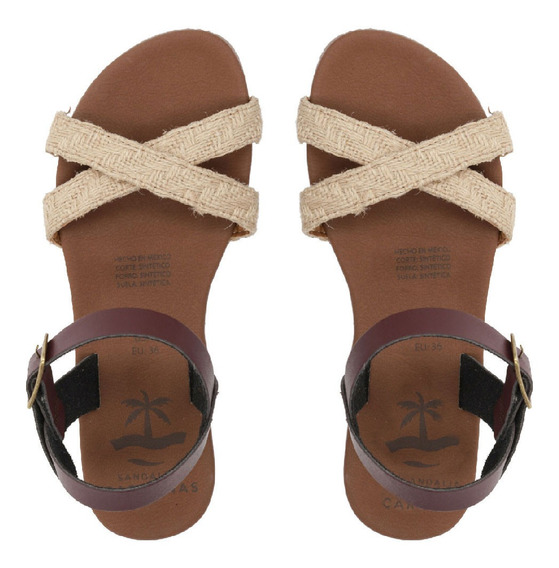 Sandalias Caribeñas Moda Playa Dama Chemuyil Artesanal