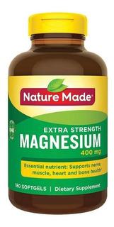 Magnesium 250mg Nature Made Com 180 Tablets Magnesio