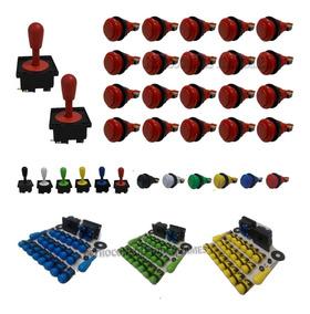 2x Manche Comando Joystick Aegir + 20 Botões Nylon + Micros