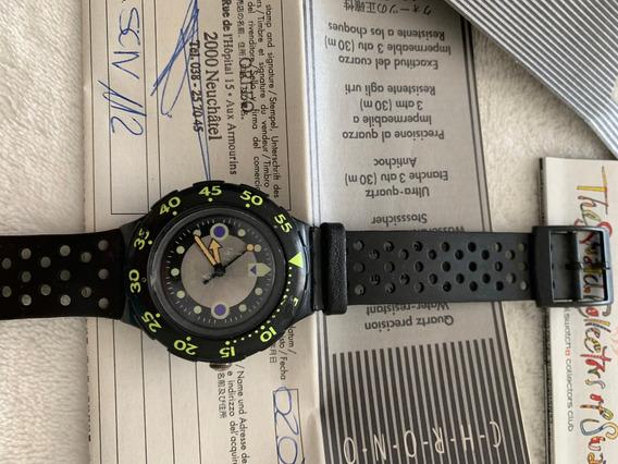 Relogio Swatch Scn112. Ano 1994,caixa E Manual,sem Uso
