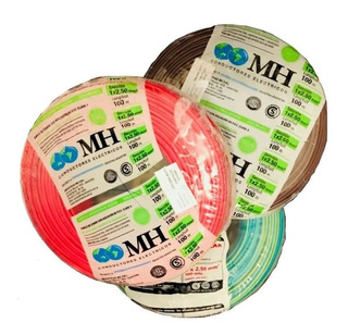 Cable Unipolar 2.5 Mm2 Nor. Iram 100 Mts Mh X 3 Rollos