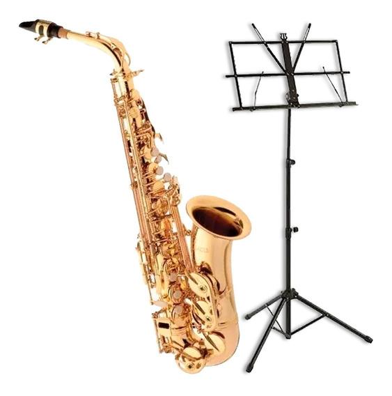 Saxofone Eagle Alto Em Mib Sa501 + Estante De Partitura