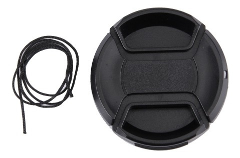 Lens Cap 55 Center Pinch Camara Black Cwb7