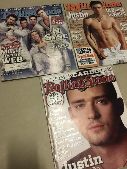 Revistas Rolling Stone - Nsync + Justin Timberlake - Eua