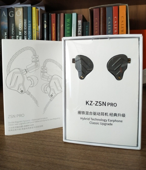 Kz Zsn Pro S/ Mic Na Caixa! Fone De Retorno Profissional