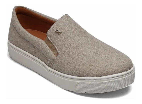 Tênis Slip On Santa Lolla Nude Natural Tecido