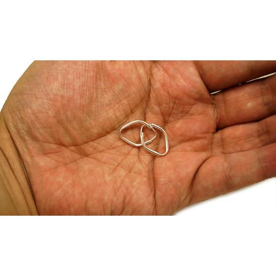 Brinco Feminino Argola Prata 925 Balão Pequeno 20mm