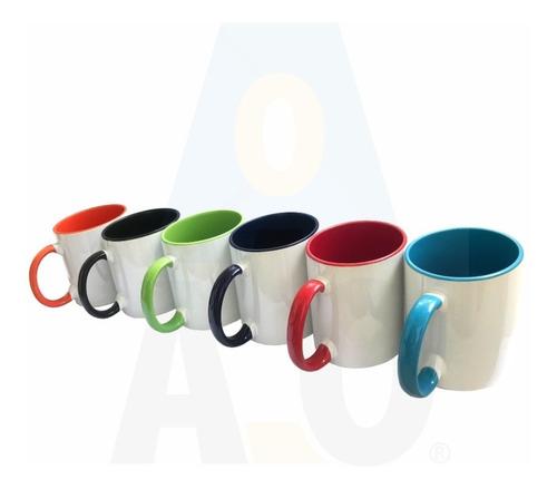 Mugs Blanco Fondo Colores Para Sublimar