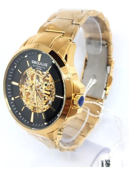 Relógio Seculus Esqueleto Automático 20552gpsvda1